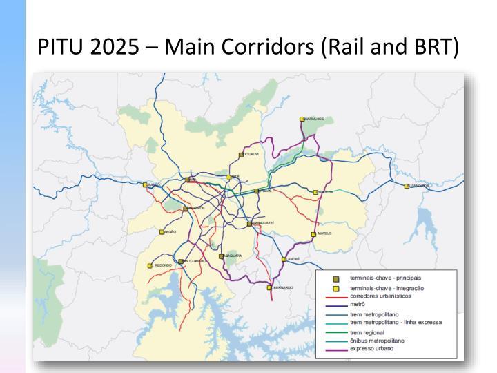 PITU 2025 – Main Corridors (Rail and BRT)