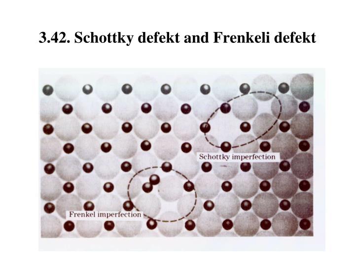 3.42. Schottky defe