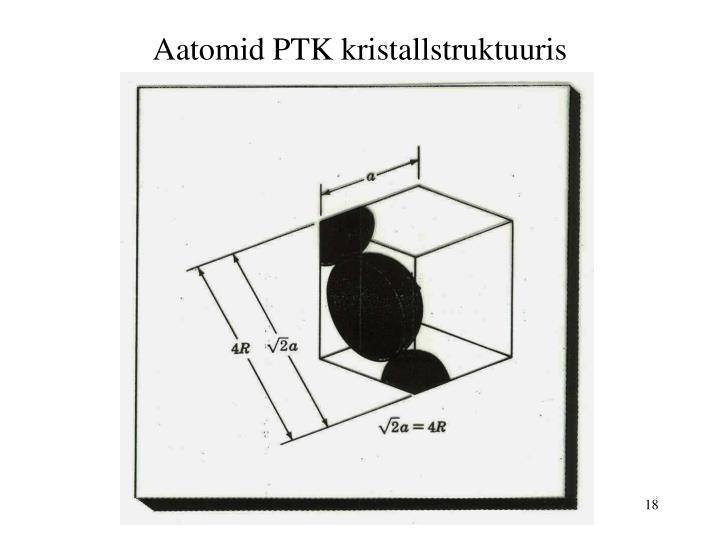 Aatomid PTK kristallstruktuuris