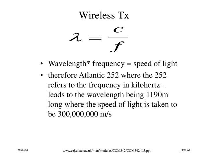 Wireless Tx