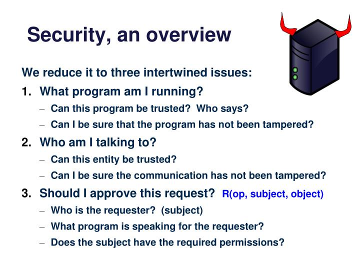 Security, an overview