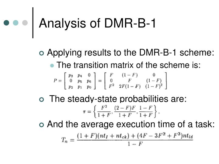 Analysis of DMR-B-1