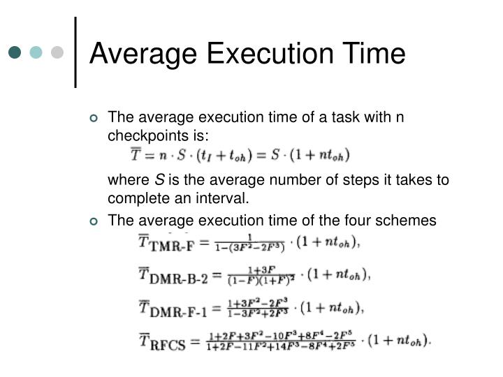 Average Execution Time