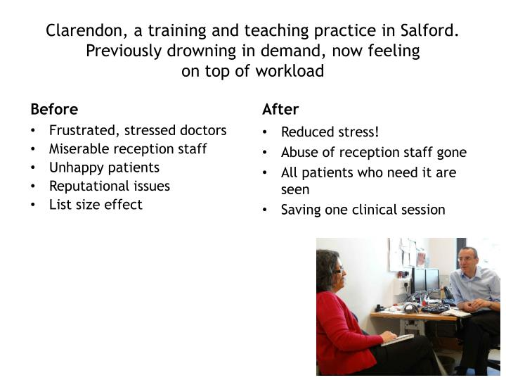 Clarendon, a training and teaching practice in Salford.