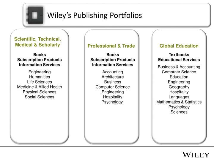 Wiley's Publishing Portfolios