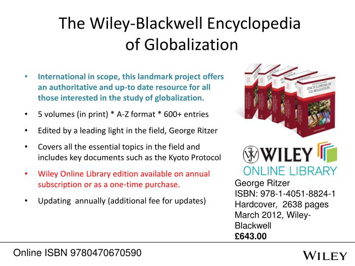 The Wiley-Blackwell Encyclopedia