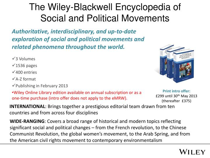 The Wiley-Blackwell Encyclopedia of