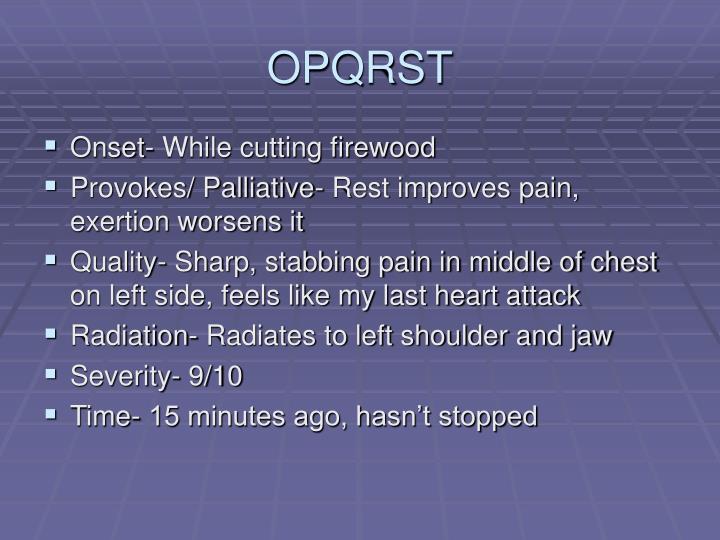 OPQRST
