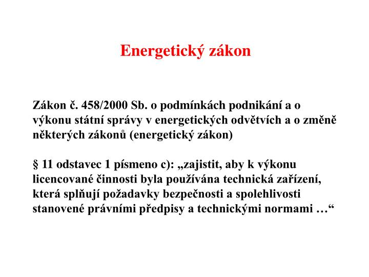 Energetický zákon