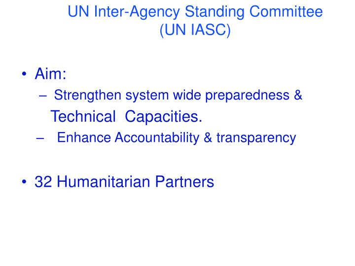 UN Inter-Agency Standing Committee