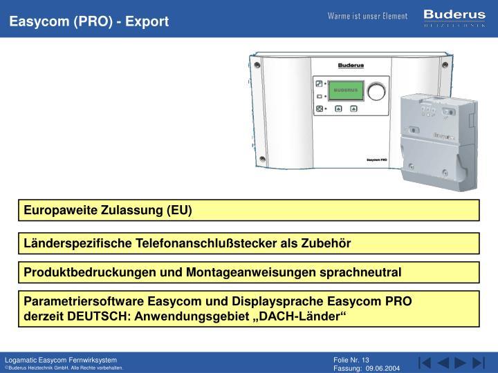 Easycom (PRO) - Export