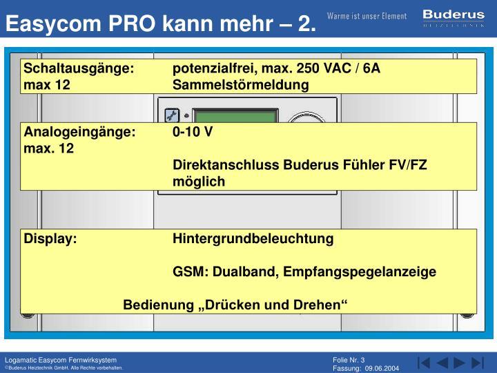 Easycom PRO kann mehr – 2.