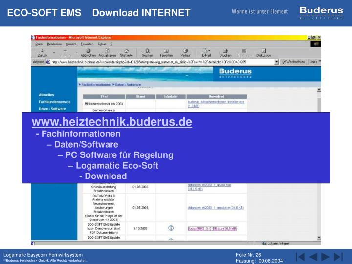 ECO-SOFT EMS    Download INTERNET