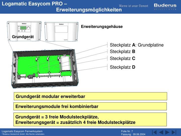 Logamatic Easycom PRO –