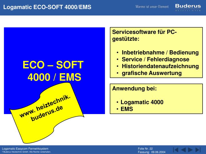 Logamatic ECO-SOFT 4000/EMS