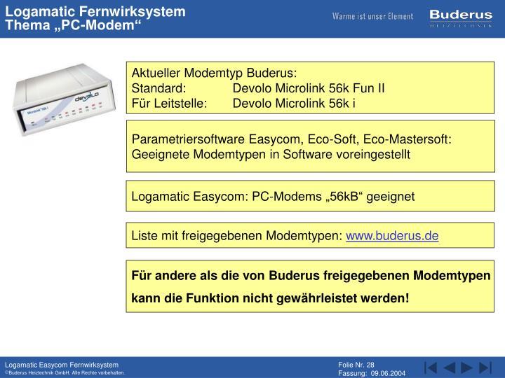 Logamatic Fernwirksystem