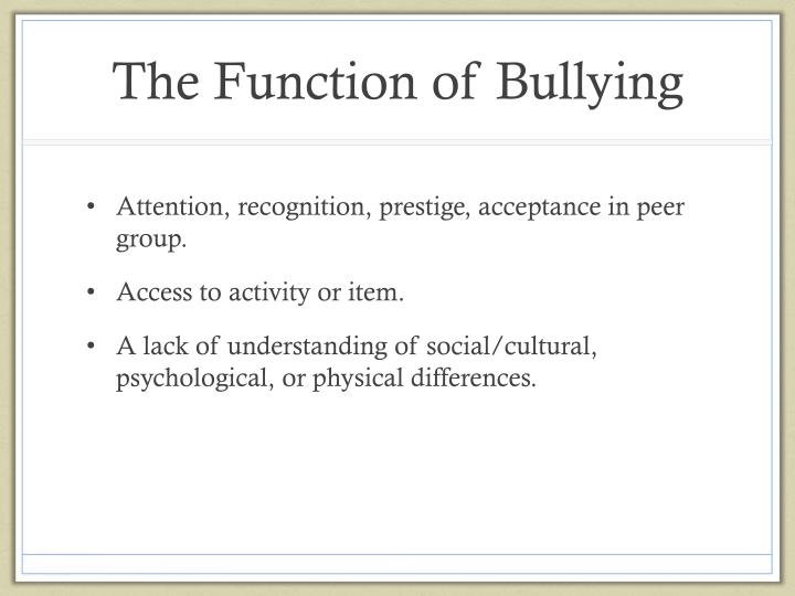 an understanding of the different types of bullying This means that there are also different forms of bullying  we'll go into detail for  each one so that you can better understand what each.