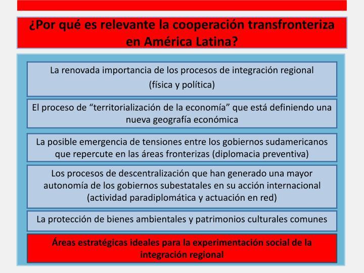 ¿Por qué es relevante la cooperación transfronteriza en América Latina?