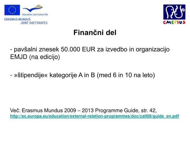 Finančni del