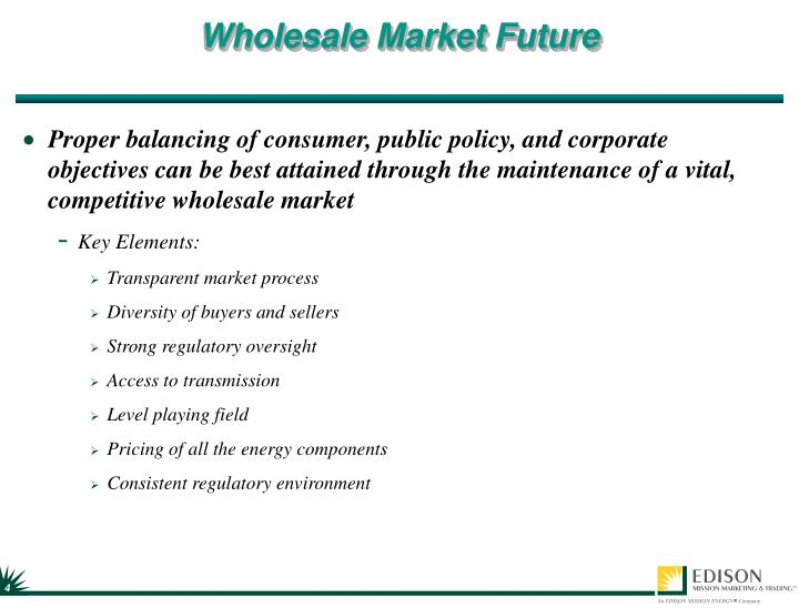 Wholesale Market Future