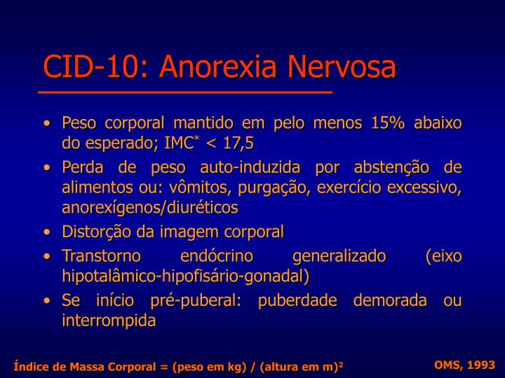 CID-10: Anorexia Nervosa
