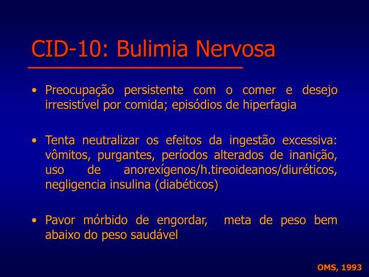CID-10: Bulimia Nervosa