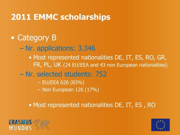 2011 EMMC scholarships