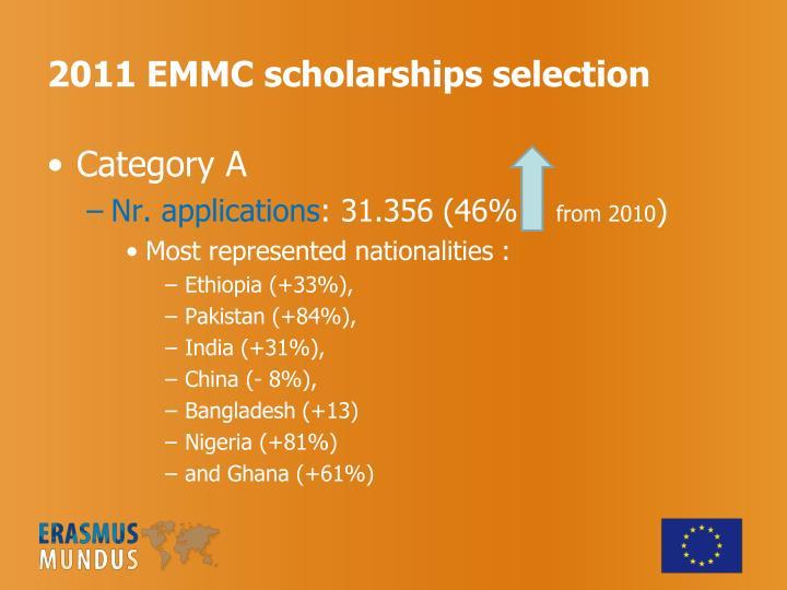 2011 EMMC scholarships selection