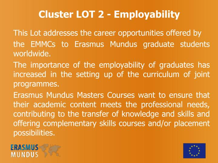 Cluster LOT 2 - Employability