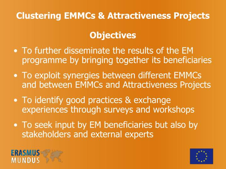 Clustering EMMCs & Attractiveness Projects