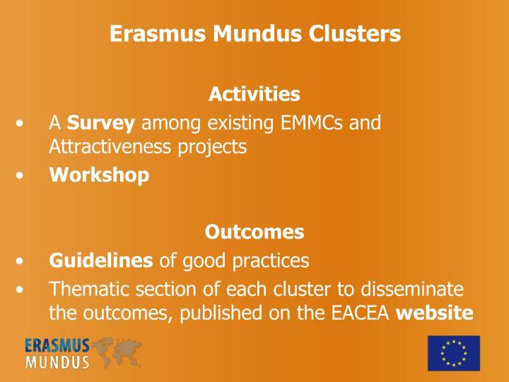 Erasmus Mundus Clusters