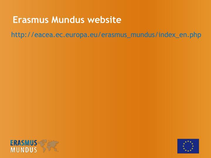 Erasmus Mundus website