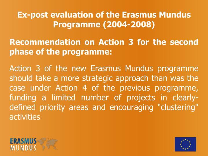 Ex-post evaluation of the Erasmus Mundus Programme (2004-2008)