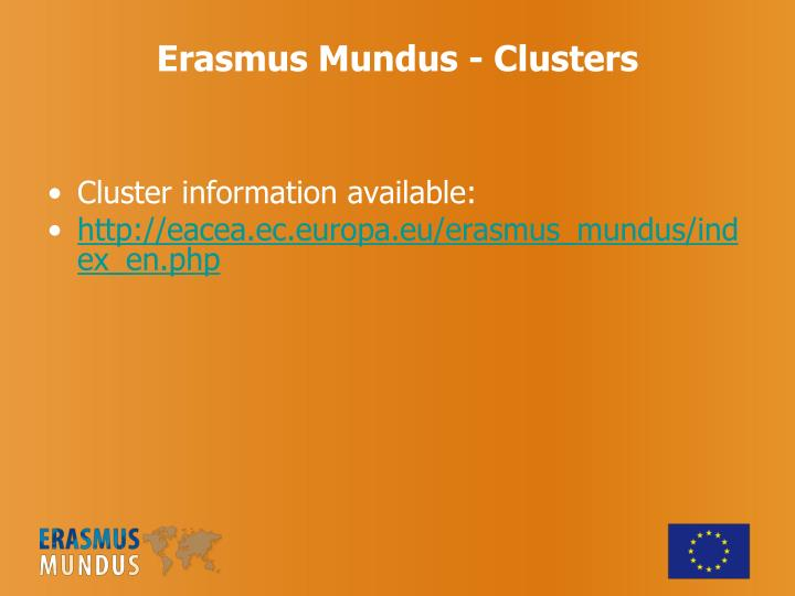 Cluster information available: