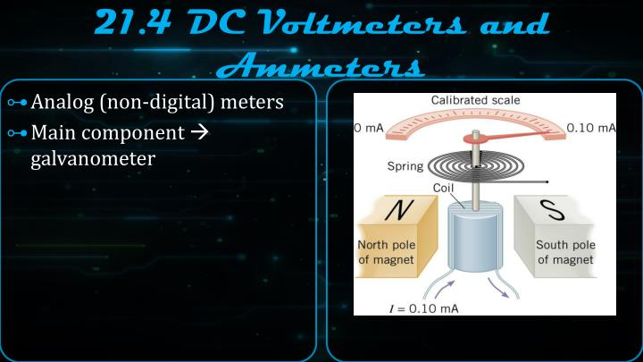 21.4 DC Voltmeters and Ammeters