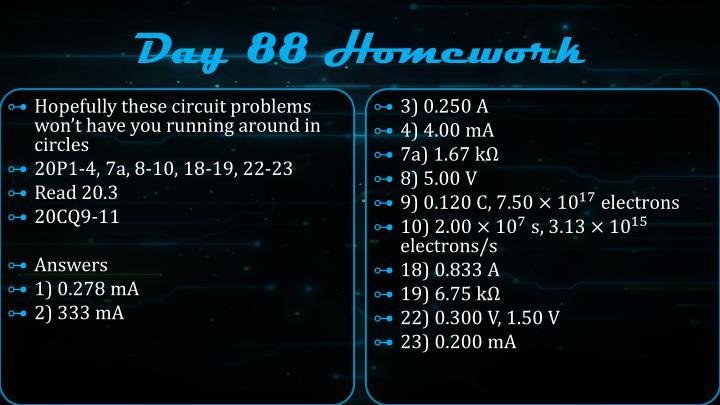 Day 88 Homework