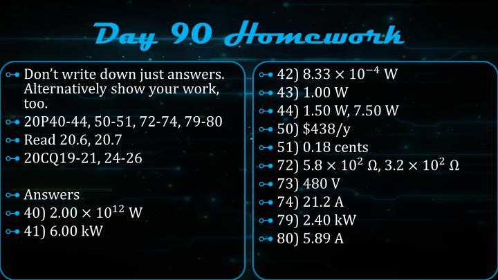 Day 90 Homework
