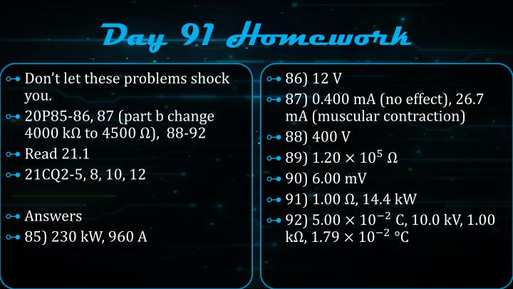 Day 91 Homework