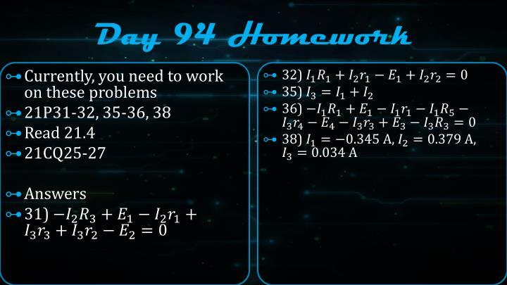 Day 94 Homework