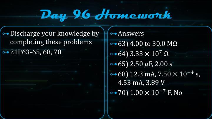 Day 96 Homework