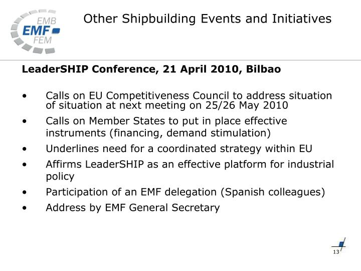 LeaderSHIP Conference, 21 April 2010, Bilbao