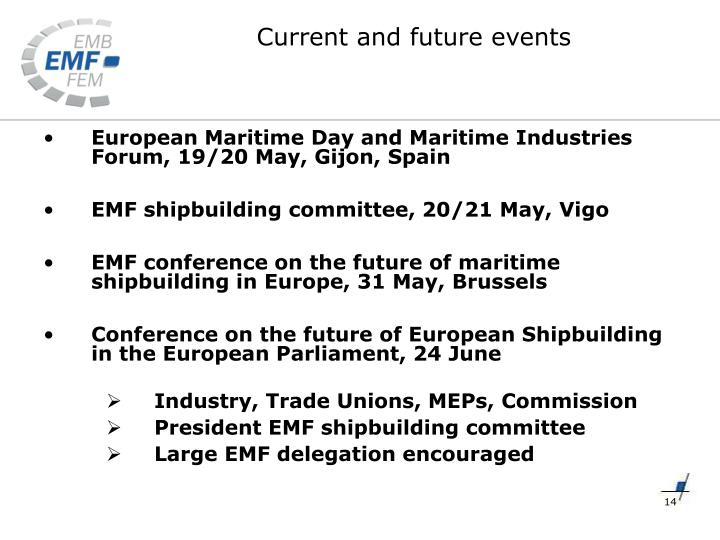 European Maritime Day and Maritime Industries Forum, 19/20 May, Gijon, Spain