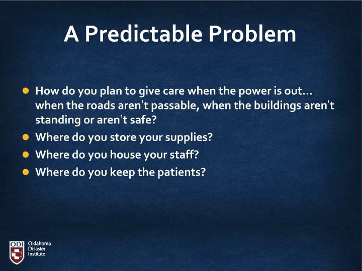 A Predictable Problem