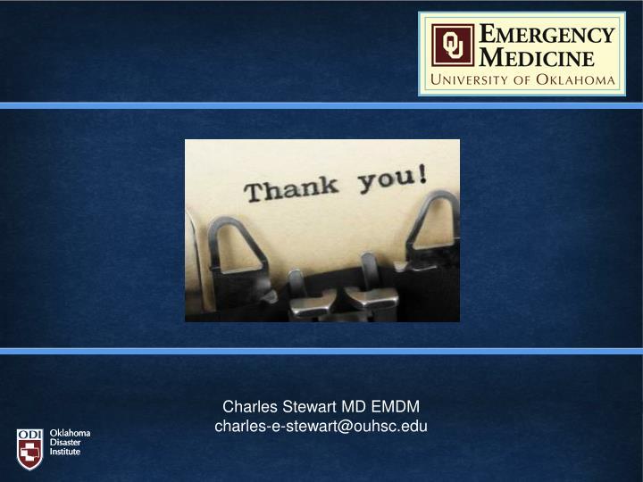 Charles Stewart MD EMDM