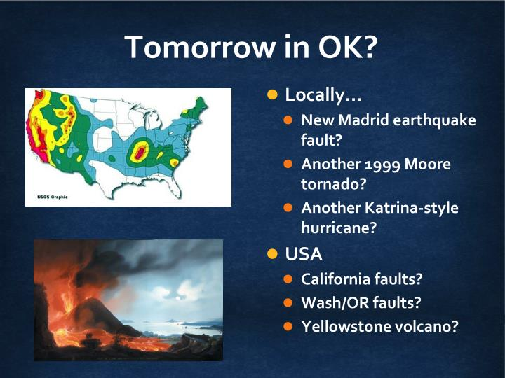 Tomorrow in OK?