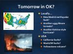tomorrow in ok