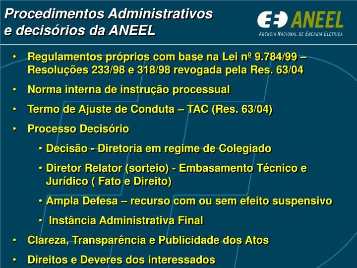 Procedimentos Administrativos