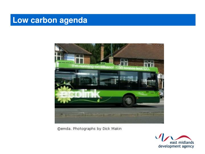 Low carbon agenda