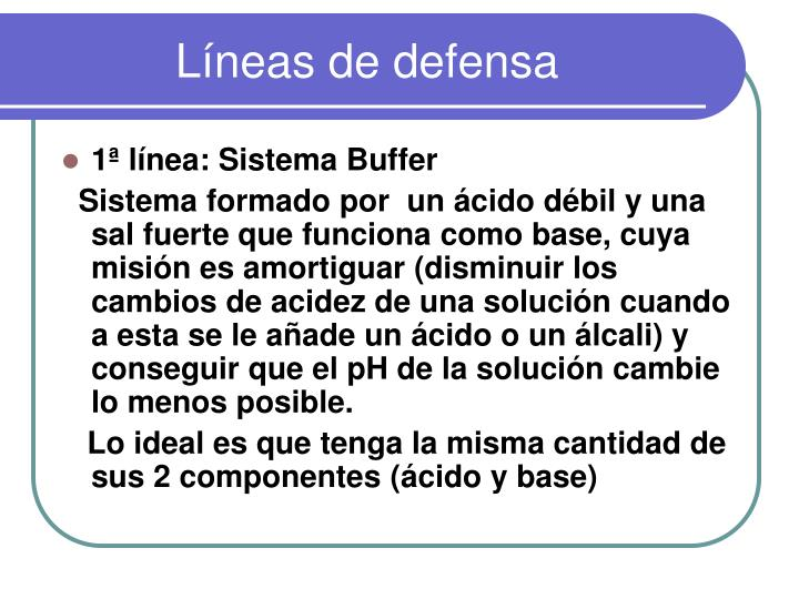 Líneas de defensa