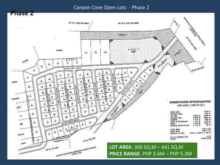 Canyon Cove Open Lots  - Phase 2